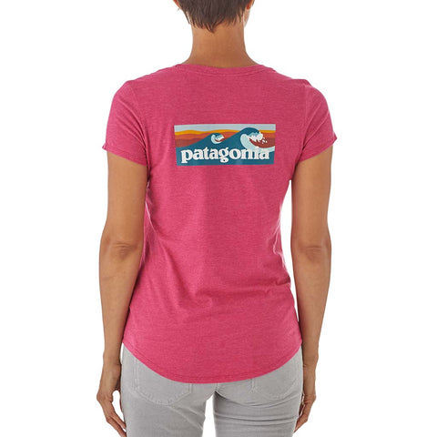 Buy Patagonia Womens Board Short Logo Scoop Tee - Craft Pink | Benny's Boardroom
