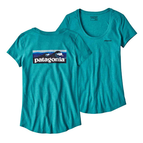 Buy Patagonia Womens Board Short Logo Scoop Tee - Elwha Blue | Benny's Boardroom