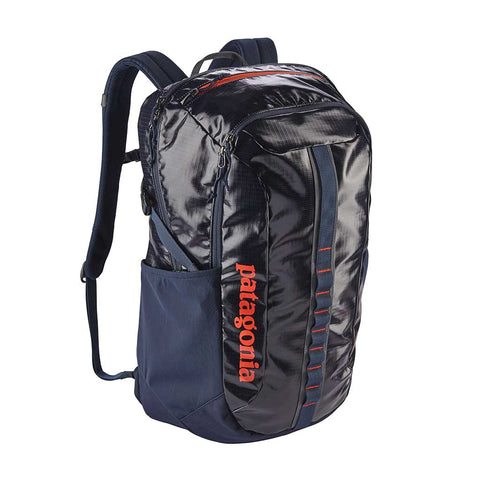 Shop Patagonia Black Hole Pack 30L Backpack - Navy Blue w/Paintbrush Red | Benny's Boardroom