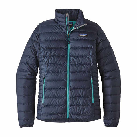 Shop Patagonia Women's Down Sweater - Navy Blue w/Strait Blue | Benny's Boardroom