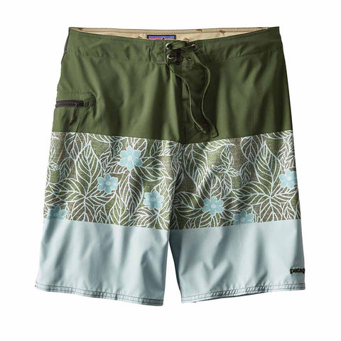 Shop Patagonia Stretch Planing Board Shorts 20 in - Mountain Dogwood Stripe/Industrial Green | Benny's Boardroom