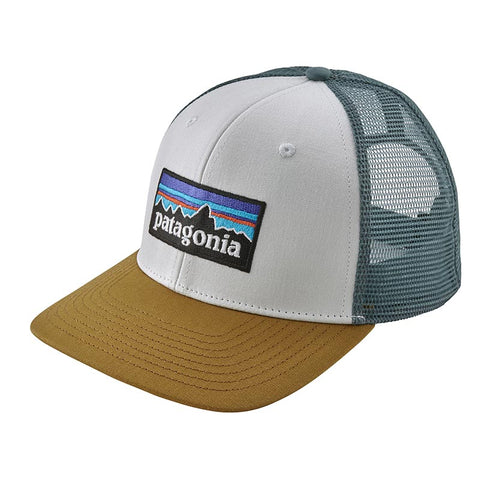 Buy Patagonia P-6 Logo Trucker Hat Online - White/Kastanos Brown | Benny's Boardroom