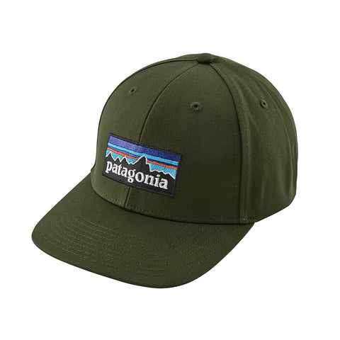 Shop Patagonia P-6 Logo Roger That Hat - Nomad Green Online | Benny's Boardroom