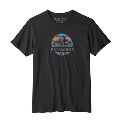 Buy Patagonia Men's Fitz Roy Scope Organic Tee - Black Online | Benny's Boardroom