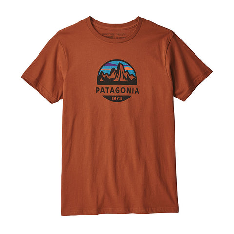 Shop Patagonia Men's Fitz Roy Scope Organic Tee - Copper Ore Online | Benny's Boardroom