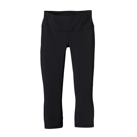 Shop Patagonia Womens Centered Crops - Black | Benny's Boardroom