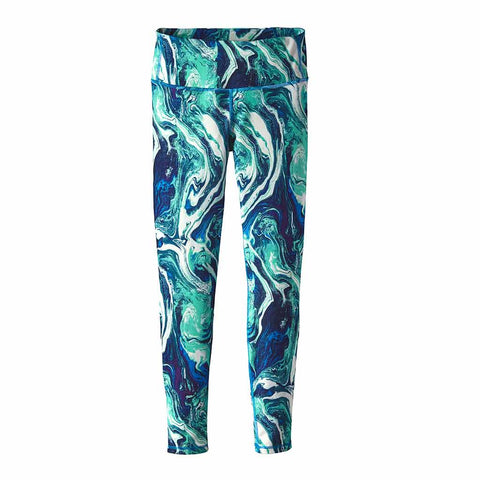 Shop Patagonia Womens Centered Tights - Rivermouth/Andes Blue | Benny's Boardroom