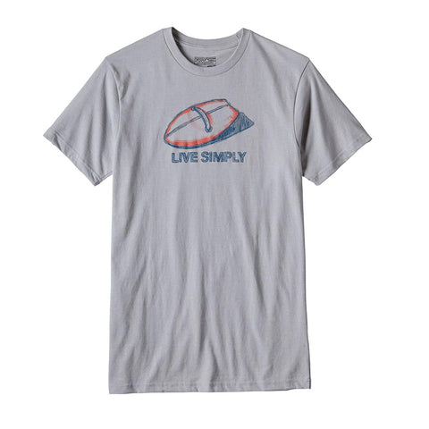 Shop Patagonia Mens Live Simply Handplane T-shirt - Drifter Grey | Benny's Boardroom