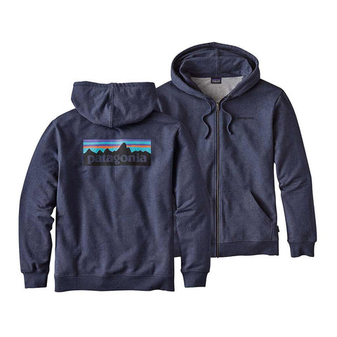 Shop Patagonia P-6 Logo Full-Zip Hoody - Navy Blue | Benny's Boardroom