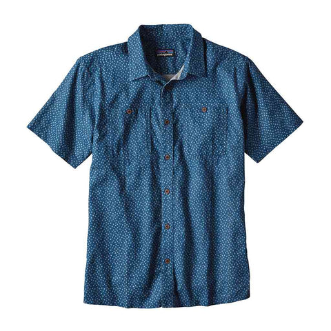 Shop Patagonia Mens Back Step Shirt - Micro Medusa/Big Sur Blue | Benny's Boardroom