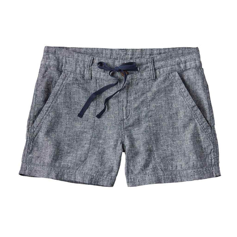 Shop Patagonia Women's Island Hemp Shorts 4in - Chambray/Navy Blue | Benny's Boardroom