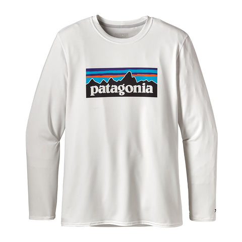 Shop Patagonia Mens Long Sleeve R0 Sun Tee - P-6/White | Benny's Boardroom