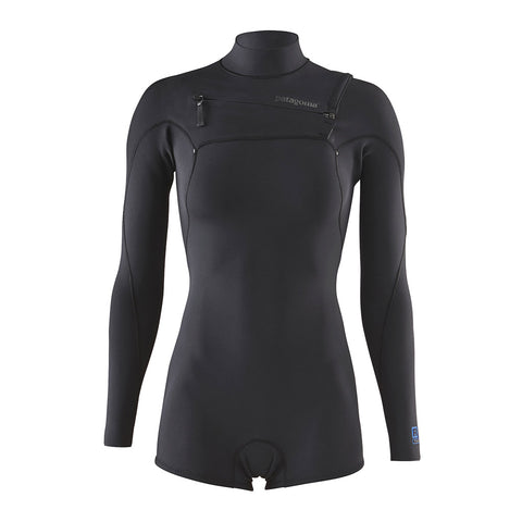 Shop Patagonia Women's R1 Yulex Lite FZ L/S Spring Suit Wetsuit - Black | Benny's Boardroom