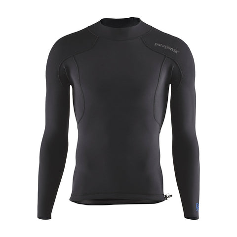 Shop Patagonia Men's R1 Lite Yulex L/S Top - Black | Benny's Boardroom