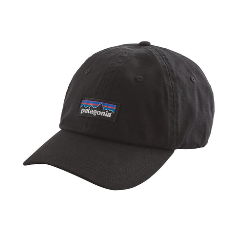 Shop Patagonia P-6 Label Trad Cap - Black | Benny's Boardroom