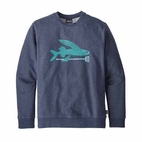 Shop Patagonia Men's Flying Fish MW Crew Sweatshirt - Classic Navy | Benny's Boardroom