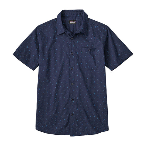 Shop Patagonia Men's Go To Shirt Online - Rockwall/Classic Navy | Benny's Boardroom