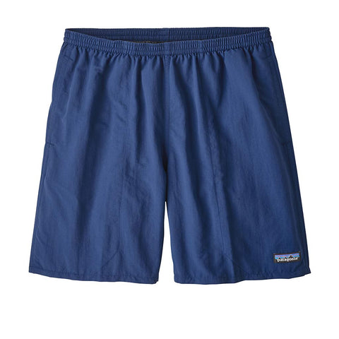 Shop Patagonia Men's Baggies Longs Shorts - 7 in. - Superior Blue | Benny's Boardroom