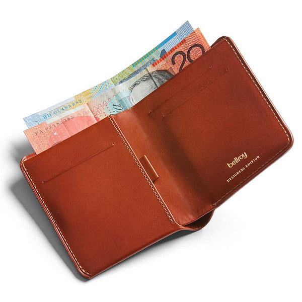 Shop Bellroy Note Sleeve Wallet Designers Edition - Burnt Sienna Online | Benny's Boardroom