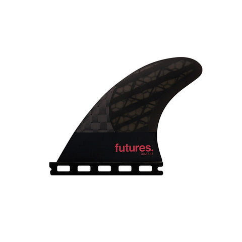 Buy Futures Fins QD2 4.15 Blackstix (L) Quad Rear Fins - Smoke/Violet Online | Benny's Boardroom