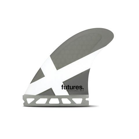 Shop Futures Fins WCT Honeycomb Medium Thrusters Online - Grey/White