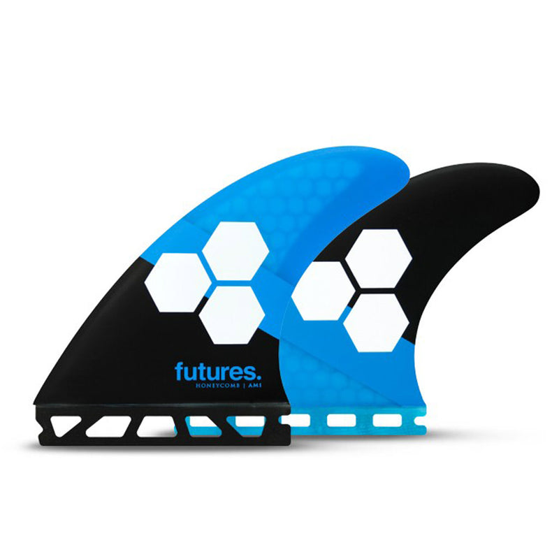 Shop Futures Fins AM1 Honeycomb MEDIUM Thruster Fin Set - Blue/Black | Benny's Boardroom