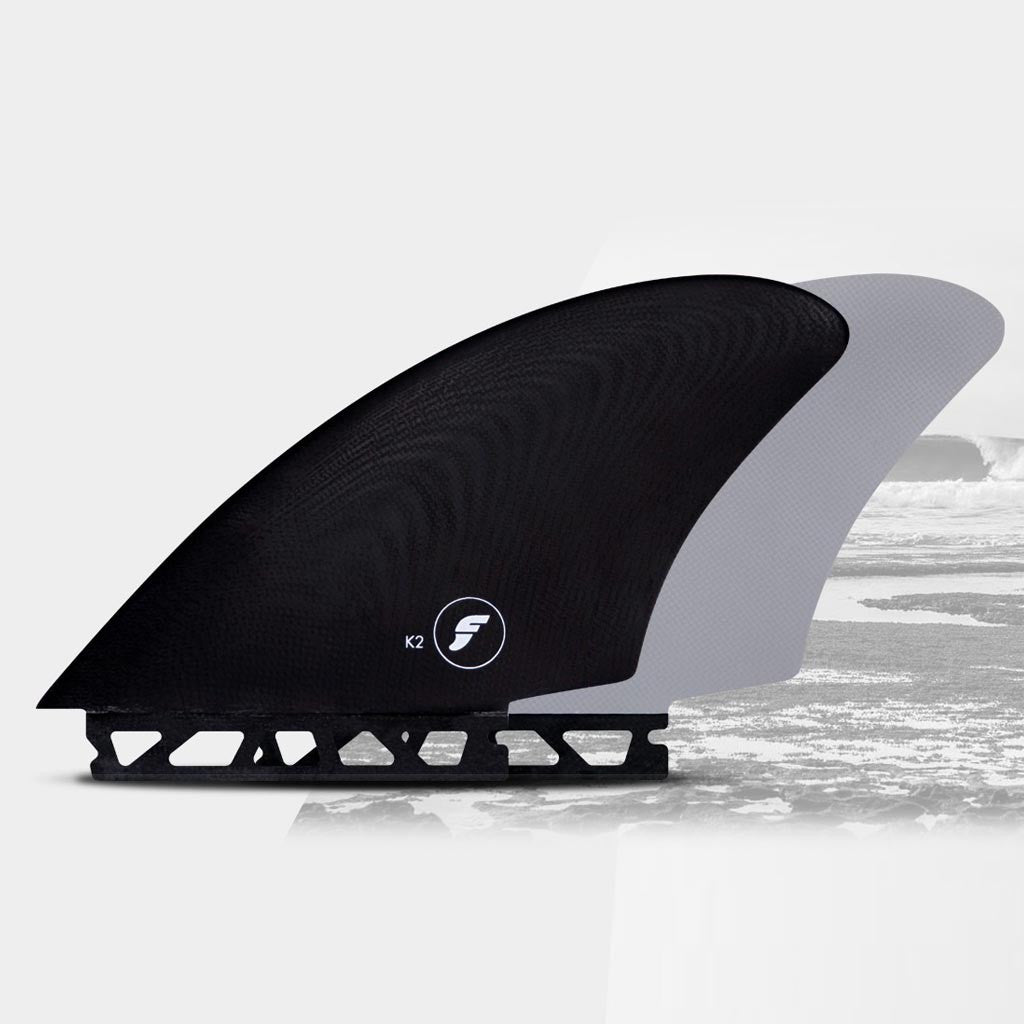 6fe104e9e0 Details about New Futures Fins K2 Keel Twin Fins - Smoke