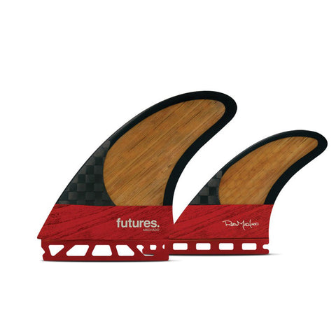 Buy Futures Fins Machado Twin +1 Fins - Bamboo/Red Online | Benny's Boardroom