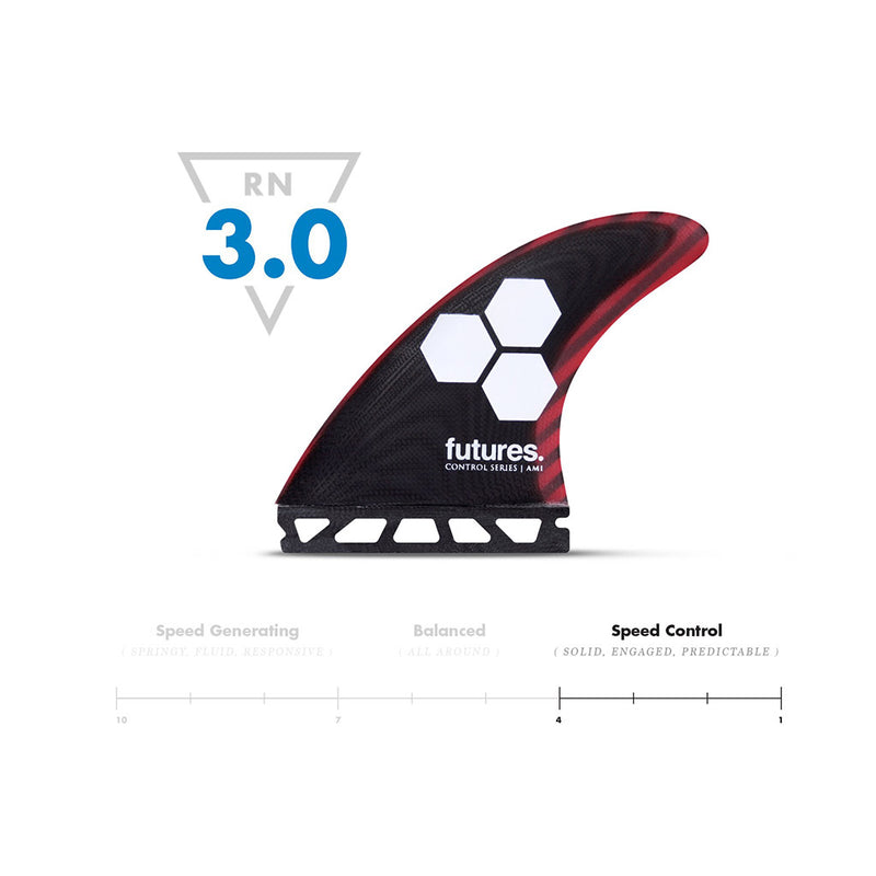 Shop Futures Fins AM1 Control Series MEDIUM Thruster Fins Online - Black/Cherry | Benny's Boardroom