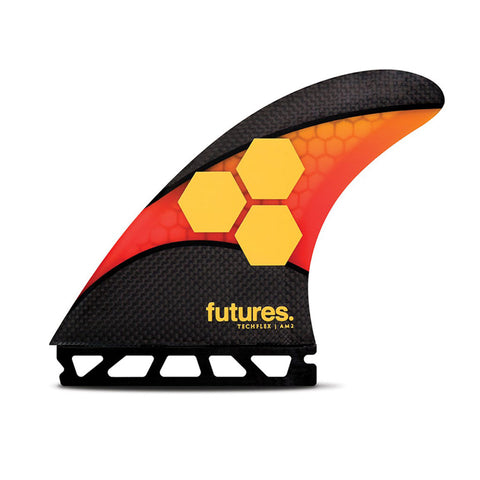 Buy Futures Fins AM2 Techflex Thruster Surfboard Fins Online - Orange/Red | Benny's Boardroom