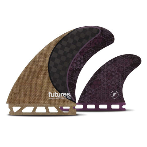 Buy Futures Fins Rasta Twin +1 Fins - Jute/Purple | Benny's Boardroom
