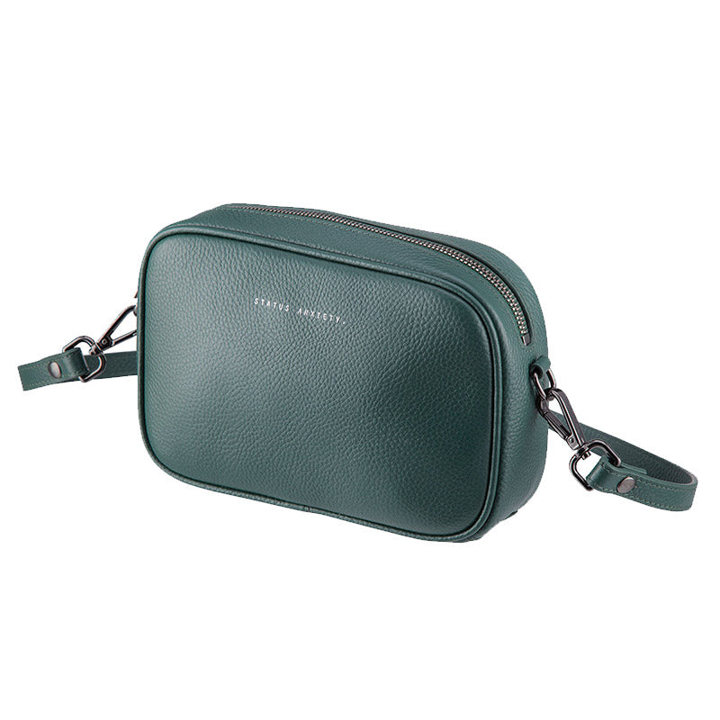 34edb2fd526e Shop the Status Anxiety Plunder Handbag in Green Leather – Benny s Boardroom