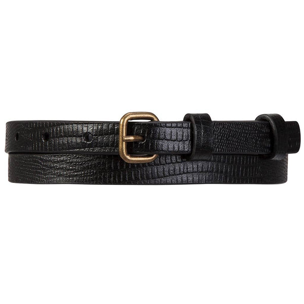 Shop Status Anxiety Never Never Women's Belt - Black Lizard | Benny's Boardroom