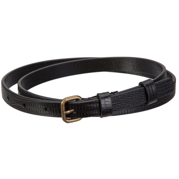 Buy Status Anxiety Never Never Women's Belt - Black Lizard | Benny's Boardroom