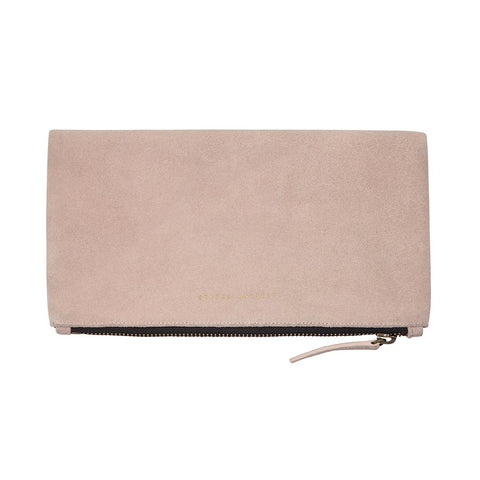 Shop Status Anxiety Feel The Night Clutch Handbag - Dusty Pink | Benny's Boardroom