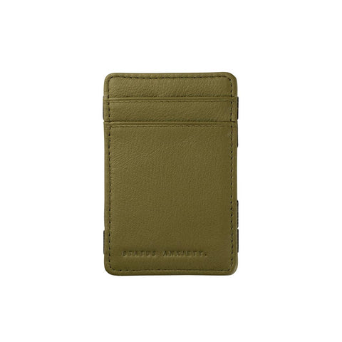Shop Status Anxiety Flip Wallet - Khaki | Benny's Boardroom