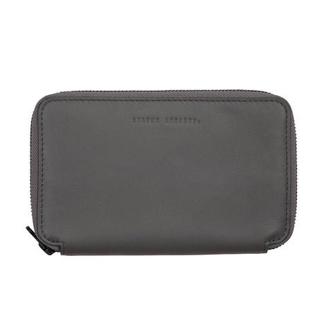 Shop Status Anxiety Vow Leather Travel Wallet - Slate | Benny's Boardroom