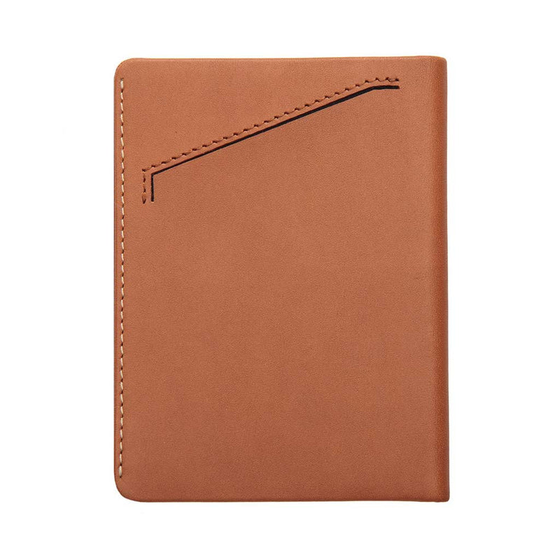 Shop Online Status Anxiety Conquest Leather Passport Wallet - Camel | Benny's Boardroom