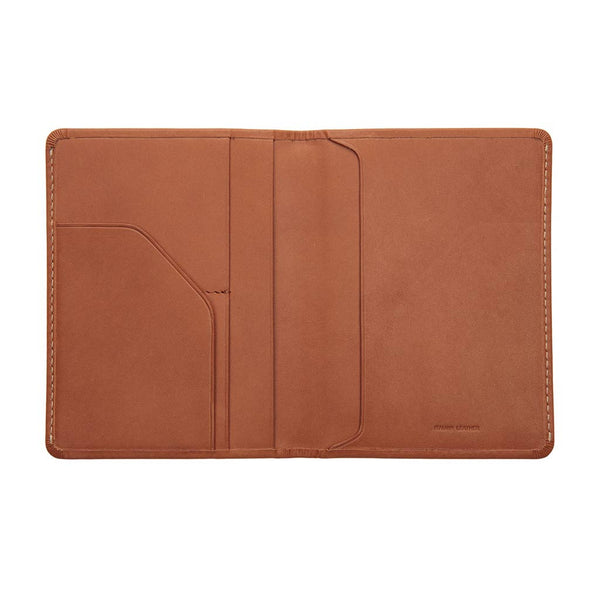 Buy Status Anxiety Conquest Leather Passport Wallet - Camel | Benny's Boardroom