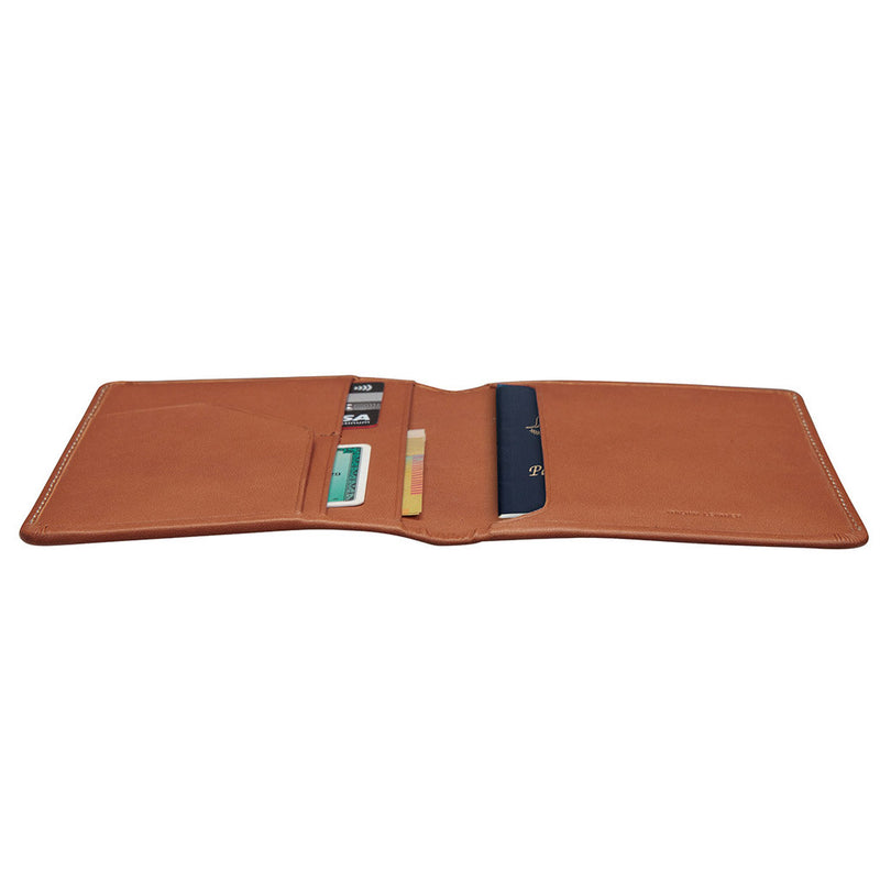 Buy Online Status Anxiety Conquest Leather Passport Wallet - Camel | Benny's Boardroom