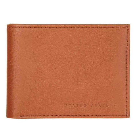Shop Status Anxiety Noah Wallet - Camel | Benny's Boardroom