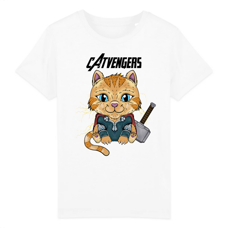 T-shirt Enfant Catvengers CaThor - Billie Gio