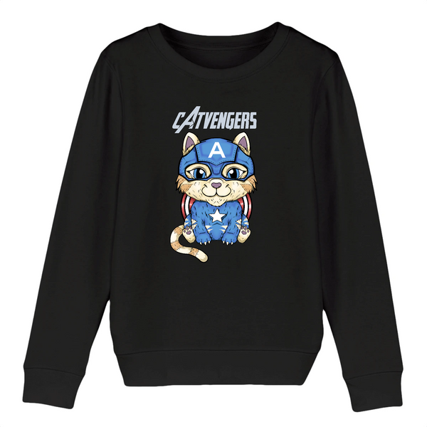 Sweat Enfant Catvengers CaptainCat Black Edition - Billie Gio