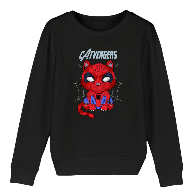 Sweat Enfant Catvengers SpiderCat Black Edition - Billie Gio
