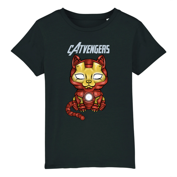 T-shirt Enfant Catvengers IronCat Black Edition - Billie Gio