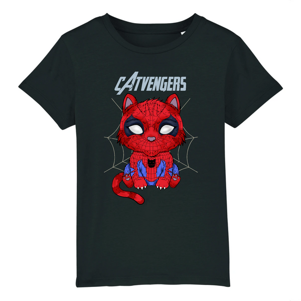 T-shirt Enfant Catvengers SpiderCat Black Edition - Billie Gio