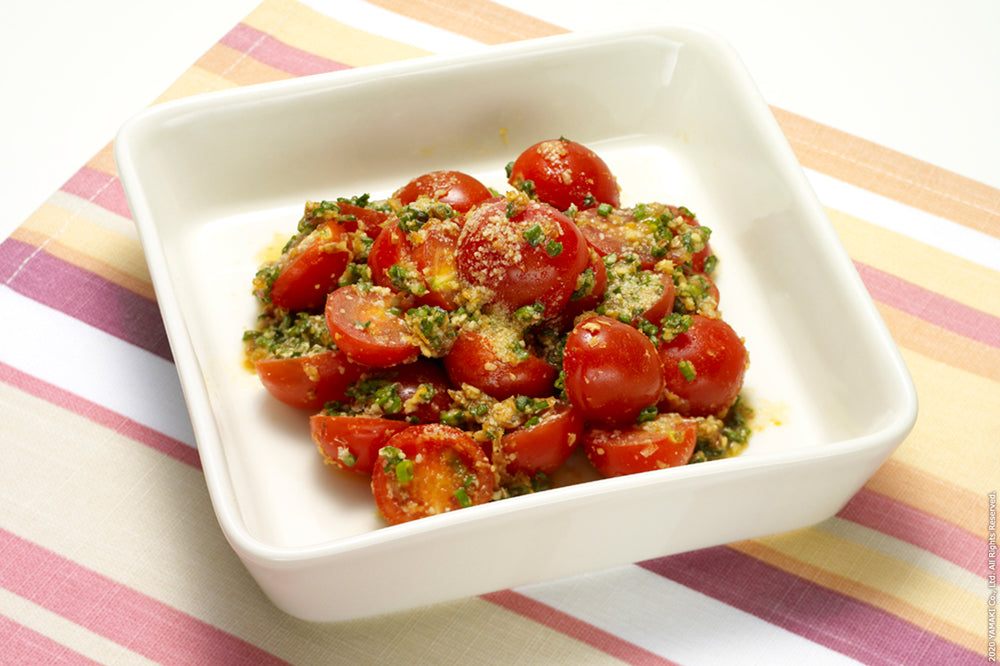 Soy Sauce & Cheese Marinated Tomato Salad