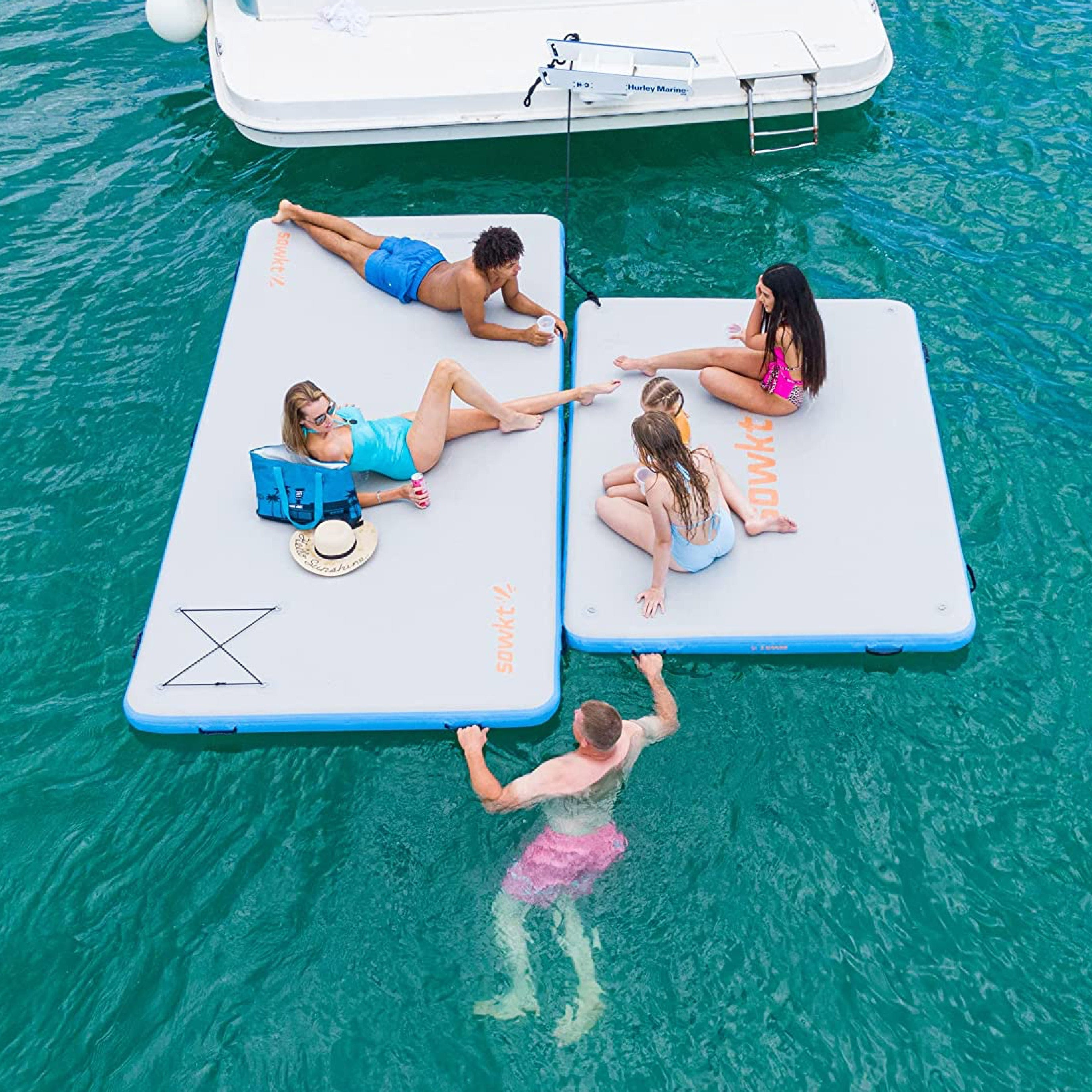 Inflatable Floating Dock 8 x 6 ft