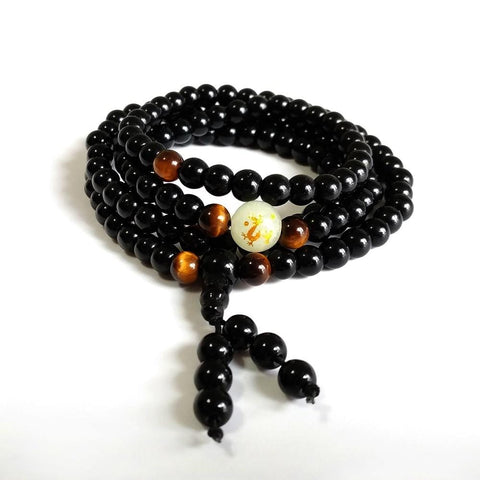Dragon Black Buddha Beads Mala & Bracelets for Men/Women