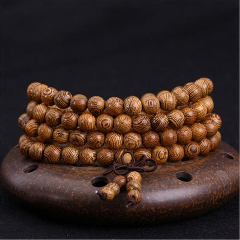 Brown Mala Beads & Bracelets | 108 Wooden Beads Mala for Yoga/Meditation/Fashion